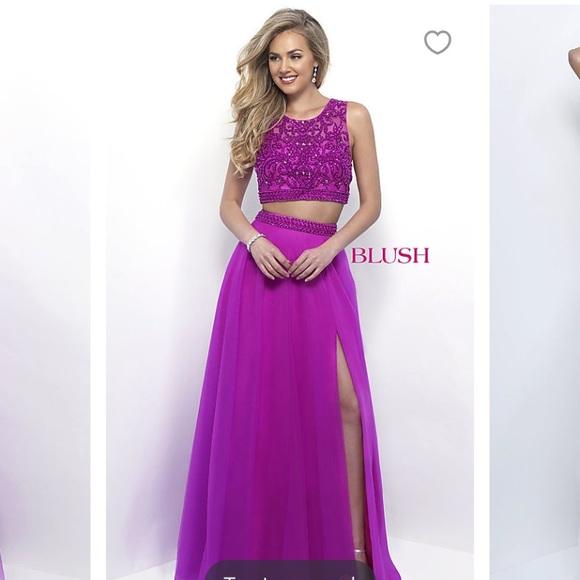 Blush Dresses | Magenta Prom Dress Size 2 W Alterations | Poshmark